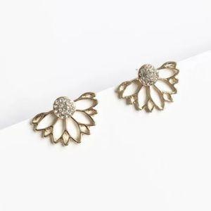 5 for $25 Gold Lotus Flower Stud Earrings